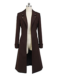 Inspired by Attack on Titan Levy Anime Cosplay Costumes Cosplay Suits Solid Long Sleeves Coat For Male