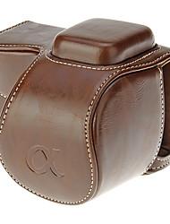 abordables -Sac-Une épaule-Appareil photo numérique-Universel Canon Nikon Olympus Sony-Etanche Résistant à la poussière-Café
