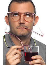 cheap -Crazy Fun Glasses Drinking Straw, W18cm x L15cm x H3cm