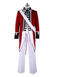 Ispirato da Hetalia England Arthur Kirkland Anime Costumi Cosplay Abiti Cosplay Collage Cappotto Maglietta Pantaloni Maniche Nastri Per