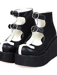 Lolita Shoes Gothic Lolita Lolita Platform Shoes Patchwork 8 CM For PU Leather/Polyurethane Leather