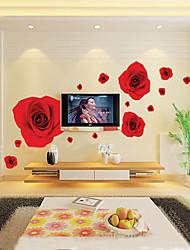 economico -1pcs colorato rosso romantico rosa sticker da parete
