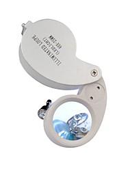 Недорогие -40x25mm с подсветкой Ювелирные изделия Лупа Gem увеличительное стекло LED Лупа