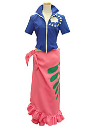 Ispirato da One Piece Nico Robin Anime Costumi Cosplay Abiti Cosplay Con stampe Manica corta Top Gonna Per Donna