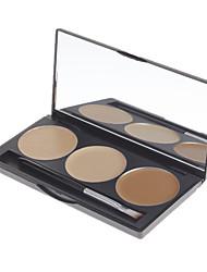 billiga -Danni 3 färger Puder / Concealer / Contour Ansikte Concealer Smink Kosmetisk