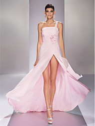 A-ligne one shoulder sweep / brush train georgette robe de bal avec crystal by ts couture®