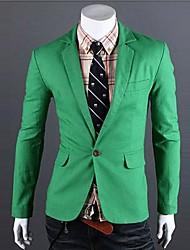 Magro Knitting Cor Contraste Pure Blazer dos homens