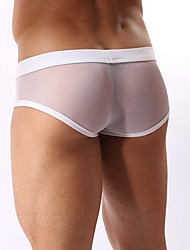 cheap -Men's Super Sexy Briefs Underwear - Mesh, Solid Colored Mid Waist