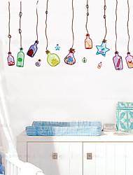economico -1pcs adesivo muro bottiglia deriva colorato