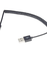 Spring Coiled USB 2.0 Male to Micro USB Data/Sync/Charger Cable(1M, Black)