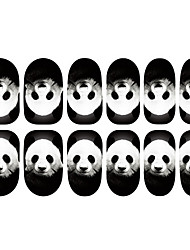 12PCS Panda Muster Luminous Nail Art Sticker