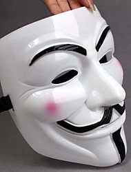Addensare Maschera bianca V For Vendetta pieno facciale Gadget Cosplay spaventoso per Halloween Costume Party