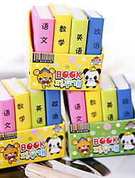 cheap -Special Design Book Shaped Eraser(4 PCS) For School / Office