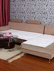 economico -Elaine breve bordure peluche modello di loto bianco divano cuscino 334.025