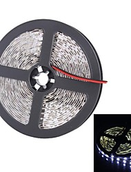 billige -5 m Fleksible LED-lysstriber 300 lysdioder Hvid Passer til Køretøjer / Selvklæbende 12V / 5050 SMD