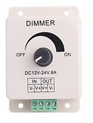 Недорогие -Под Ручка-Управляется управления Диммер Регулируемая яркость контроллер для светодиодной подсветкой (DC12-24V 8A)
