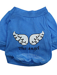 cheap -Dog Shirt / T-Shirt Dog Clothes Cartoon Blue Costume For Pets