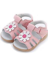 Fille-Habillé / Décontracté-Vert / Rose / Violet / Blanc-Talon Plat-Confort-Sandales-Cuir