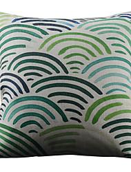 Semicircular listrado colorido decorativa fronha