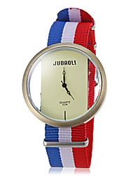 Недорогие -Мужская Повседневный стиль национального флага Ткань браслет кварцевые наручные часы (разных цветов)