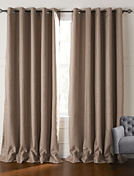 cheap -Two Panels Curtain Neoclassical , Stripe Living Room Polyester Material Curtains Drapes Home Decoration For Window