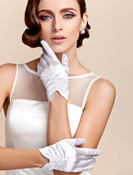 cheap -Polyester Satin Wrist Length Glove Classical Bridal Gloves Party/ Evening Gloves With Solid