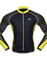 Mysenlan Maglia da ciclismo Per uomo Manica lunga Bicicletta Maglietta/Maglia Top Tenere al caldo Asciugatura rapida Antivento