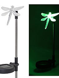 cheap -Set of 2 Garden Color Changing Dragonfly Solar Stake Lights