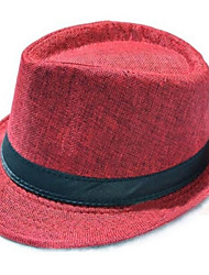 cheap -Men's Vintage Straw Hat / Sun Hat - Solid Colored