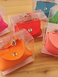 Cute Candy PU Leather Coin and Key Purse(Random Color)
