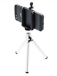 economico -I-12-3-SL Mini Desktop treppiede in alluminio con Single-deck tre sezioni (Sliver) & Mobile Phone Tripod Mount Holder