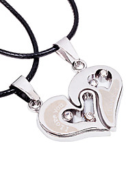 cheap -Men's Women's Geometric Heart Shape Personalized Geometric Unique Design Dangling Style Classic Love Heart Friendship Statement Jewelry