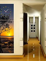 La Côte du Soleil Réglage de l'horloge dans 3pcs toile
