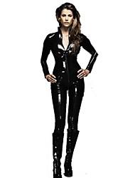 Недорогие -Прохладный мотоциклов Rider Женщина-кошка Стиль черный ПВХ Женская Хеллоуин костюм