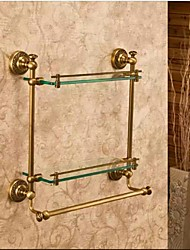 cheap -Bathroom Shelf Best Quality Antique Brass / Glass 1 pc - Hotel bath