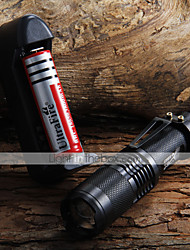 cheap -1600lM Zoomable CREE XM-L T6 LED Flashlight + Holster + 1X 18650 Charger