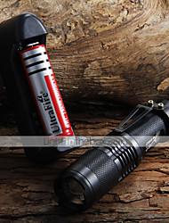 economico -Torce LED (Messa a fuoco regolabile / Impermeabili Modo 1600 Lumens 18650 Cree XM-L T6 Batteria -Campeggio/Escursionismo/Speleologia /