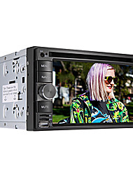 "6.2 ""carro dvd player tela LCD touch 2 din in-dash com bluetooth, gps, ipod, jogos, rádio estéreo, atv"