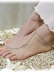 Недорогие -shixin® классический номер 8 формы сплава босиком сандалии (золотой, серебряный, бронзовый) (1 шт)