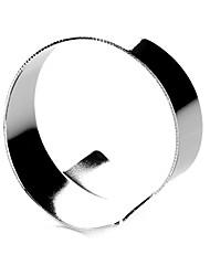 cheap -Set of 4 Modern Silver Zinc Alloy Napkin Ring