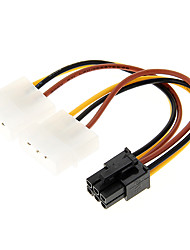 4 Pin Molex a 6 pin PCI-E Power Adapter (12cm)