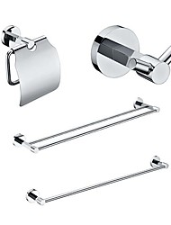 cheap -4 Packed Brass Bath Accessories Set,  Single and  Double Towel Bar/Paper Holder/Robe Hook