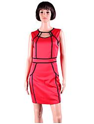 ML Plus Veličina Nova europska Moda Žene crna i bijela Patchwork Mini Bodycon Celebrity Dress Party Dress 9066