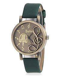cheap -Women's Musical Note Shape Round Dial PU Band Quartz Analog Fashion Watch (Assorted Color) Cool Watches Unique Watches