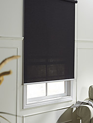 cheap -Modern Fancy Black Translucent Solid Roller Shade