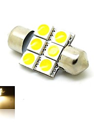 Festoon Car Warm White 1W SMD 5050 Door lamp Reading Light License Plate Light