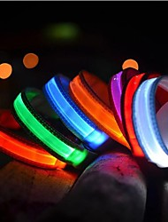 Pets Dog Collar Dog Training Collars LED Lights Electric Glow Solid Nylon Red Green Blue Pink Rainbow