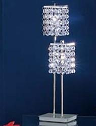 60 Contemporaneo Lampada da tavolo , caratteristica per Cristallo , con Cromo Uso Interruttore On/Off Interruttore