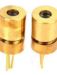 Tripod Laser Head w/ 650nm 5mW Focusing Launch Tube for Freescale Smart Car - Golden (2PCS)