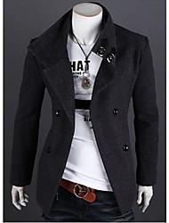 billige -Herre Dame Ensfarvet Frakke / jakke Chic & Moderne Frakke